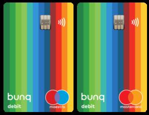 Carta Debito Bunq Mastercard e Maestro