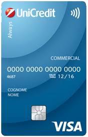 Carta di debito Always - Conto Imprendo One Unicredit