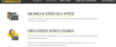 Conto Corrente CheBanca Business