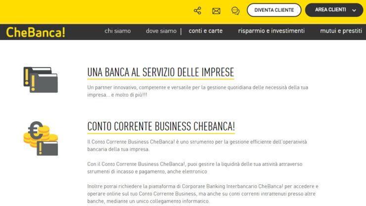 Conto Corrente CheBanca Business