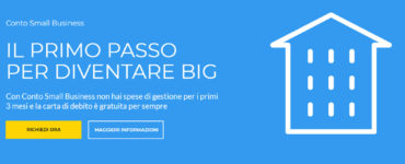 Conto Small Business Banca Sella - Homepage sito web