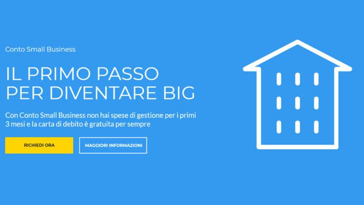 Conto Small Business Banca Sella - Homepage sito web