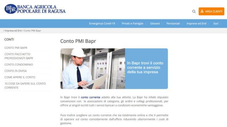 Conto PMI di Banca Agricola Popolare di Ragusa