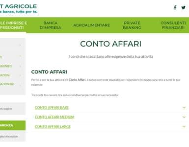 Conto Affari Crédit Agricole