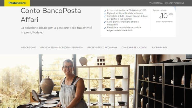 Conto BancoPosta Affari